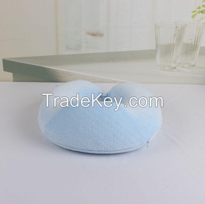 U shape memory foam pillow neck speaker pillow/inflatable pillow/funny pillow