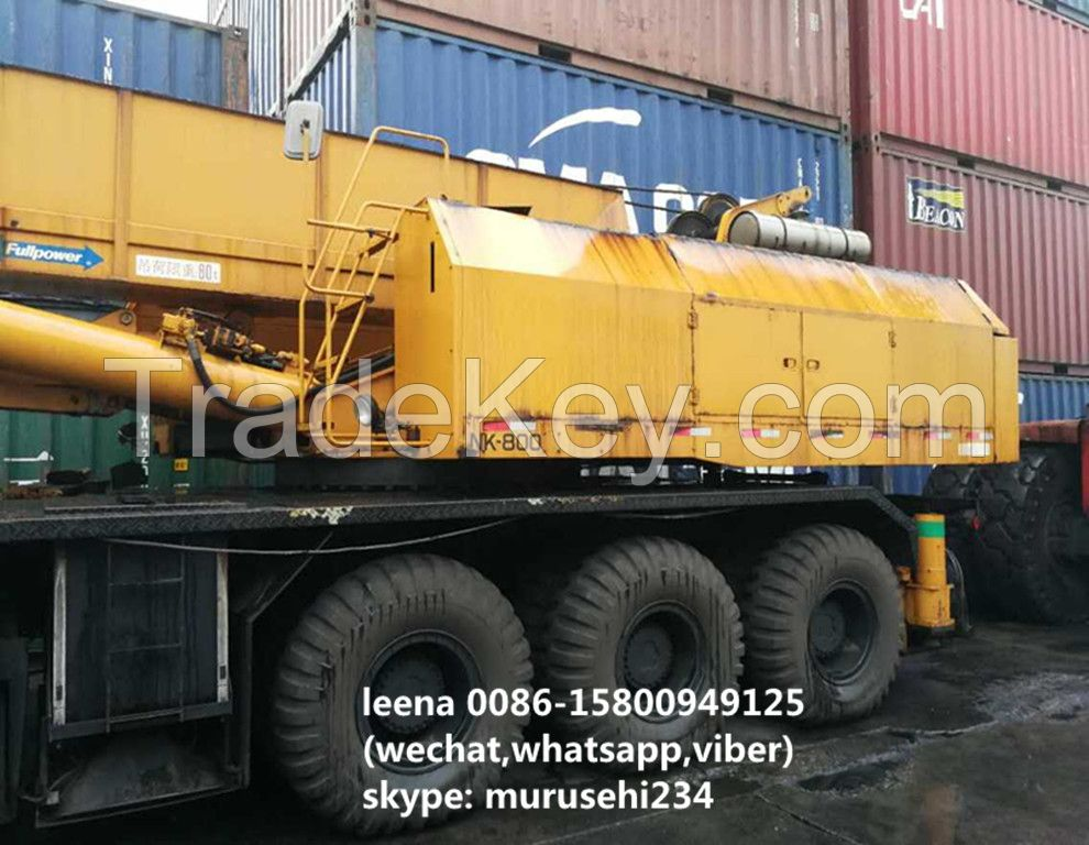 used kato 80tons truck crane slightly used