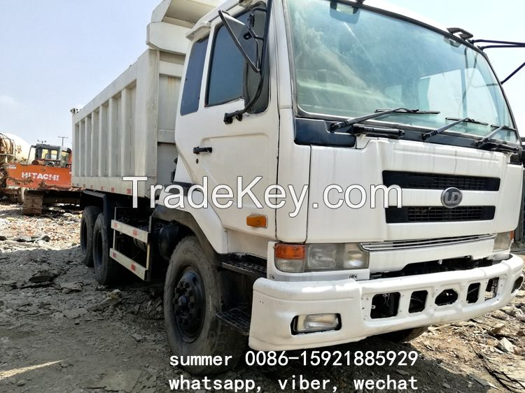 used right hand driving RHD nissan UD dump truck for sale