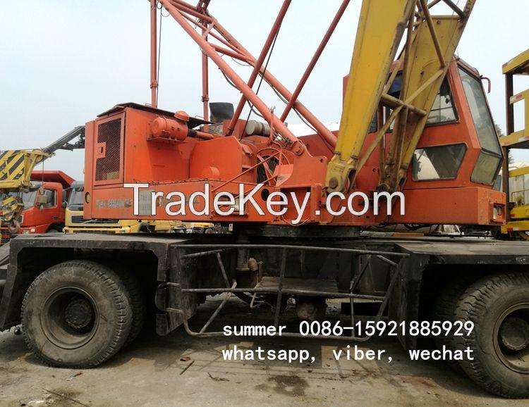 used port mobile lattice crane made in japan, used IHI crane 40ton