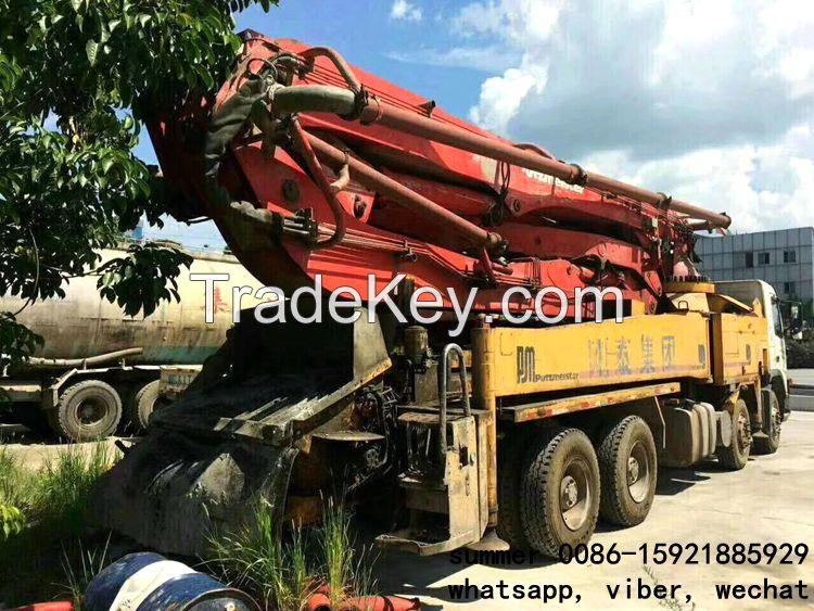 used 37-46m putzmeister concrete pump truck price