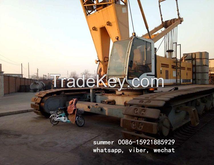 used 160t liebherr crawler crane