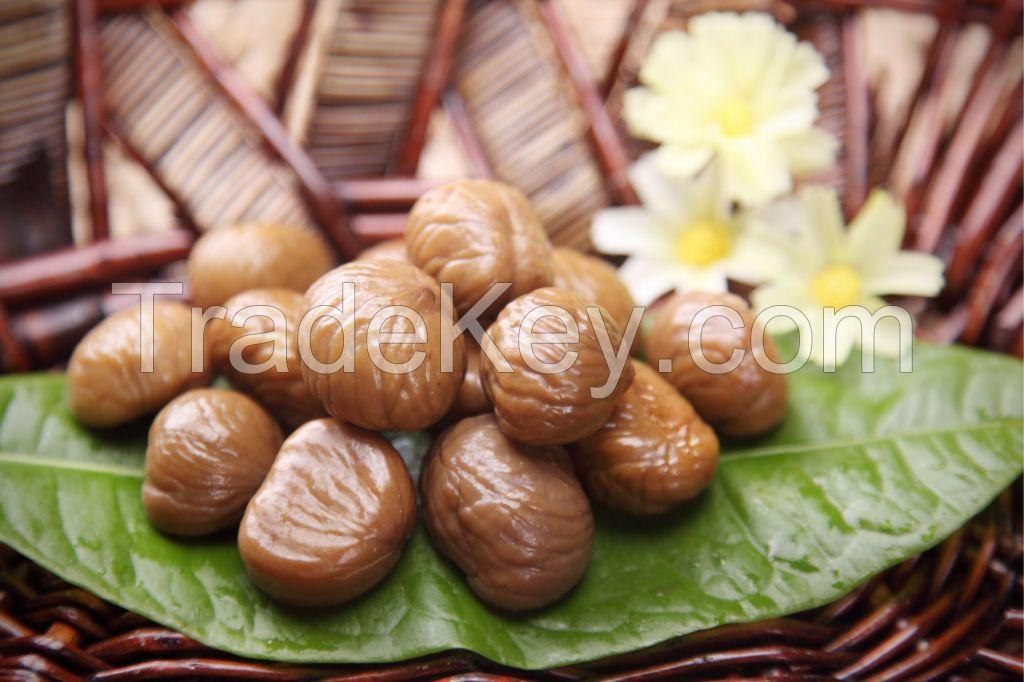 sweet chinese peeled roasted chestnuts
