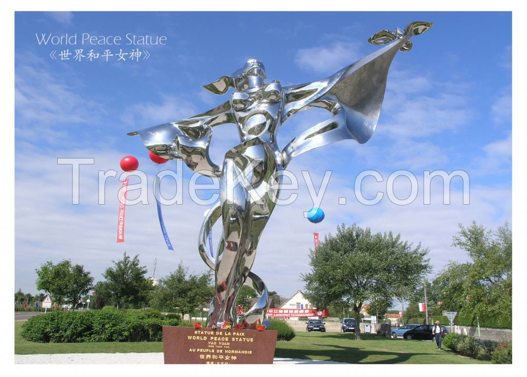 Large outdoor woman Statue