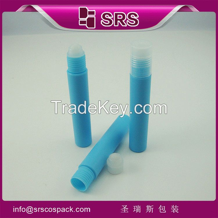 100% no leakage cosmetic packaging for perfume and colorful plastic bottle for lip gloss with plastic ball