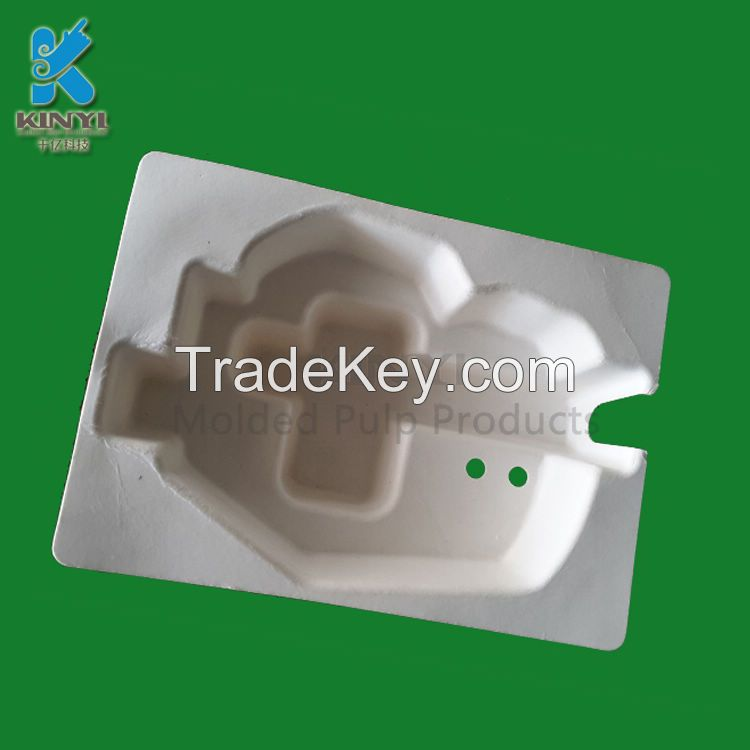 Customized Molded Paper Pulp Packaging Tray for Mouse and Other Electronic Products