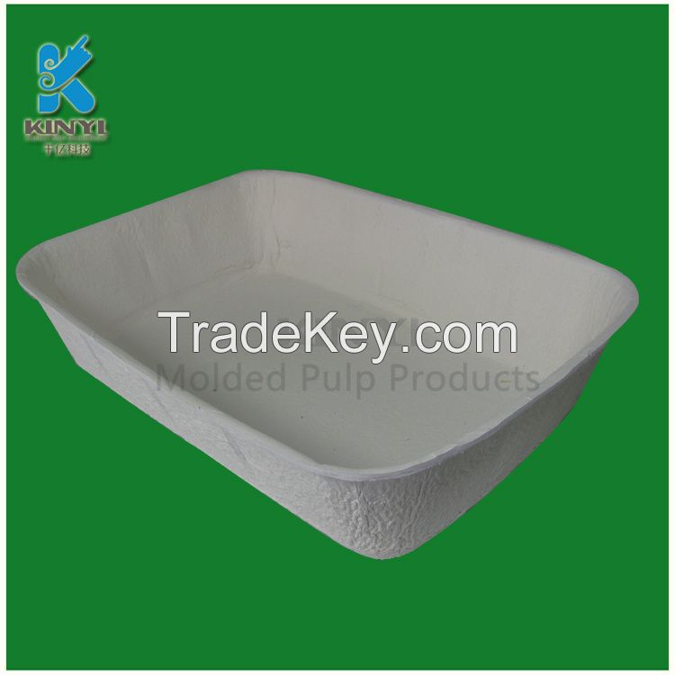 Customized Sturdy Paper Pulp Covered Cat Litter Boxes