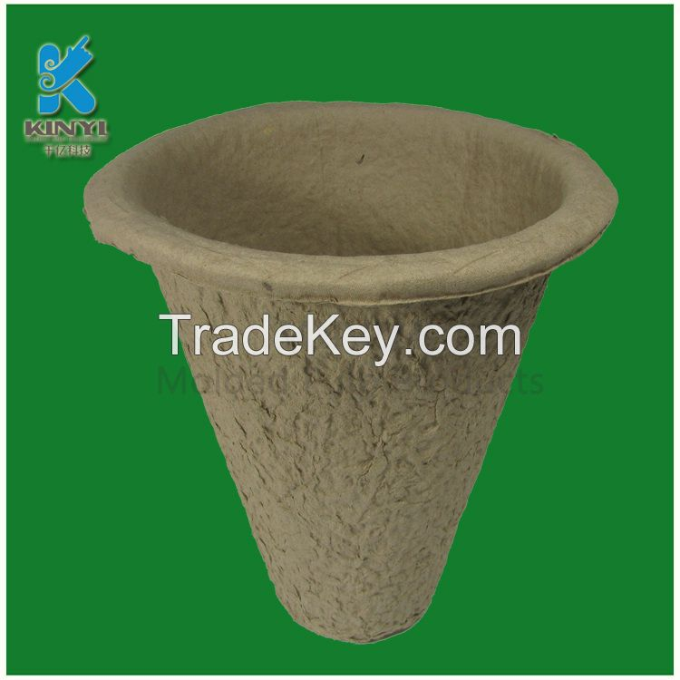 Disposable Fiber Pulp Molded Garden Plant Pots Wholesale
