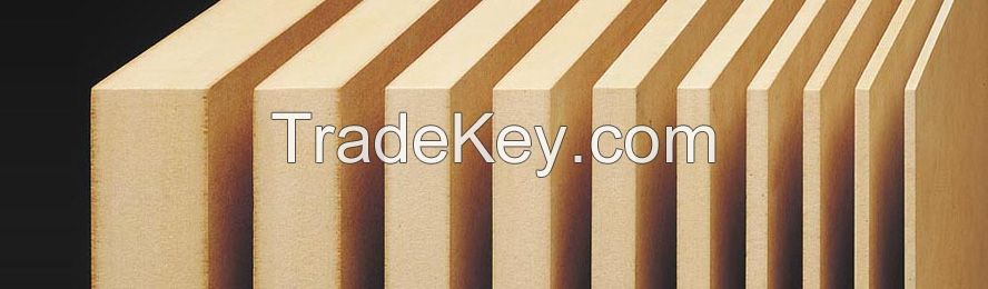 Regular raw MDF, Special use MDF, Moisture Resistant MDF