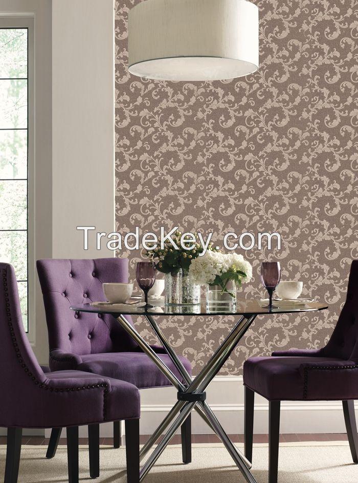 Wallpaper paper vinyl construction paintable decorative
