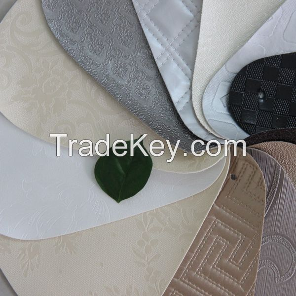 PVC leather material for wallpaper and home decoration, furniture usage