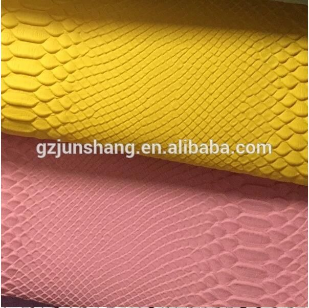 Snake design PVC leather for purse and wallet usage