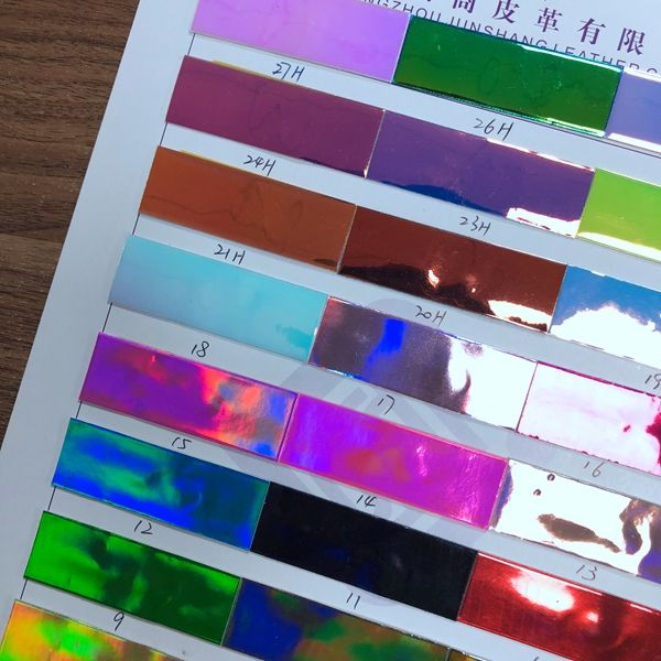 Hologram PU leather for fashion bag and shoes making