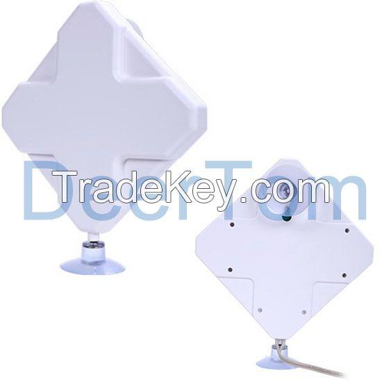 698-2700MHz 700-2700MHz 800-2700MHz 4G LTE Indoor Omni Directional Dual Polarization MIMO Ceiling Mount Antenna 35dBi Gain