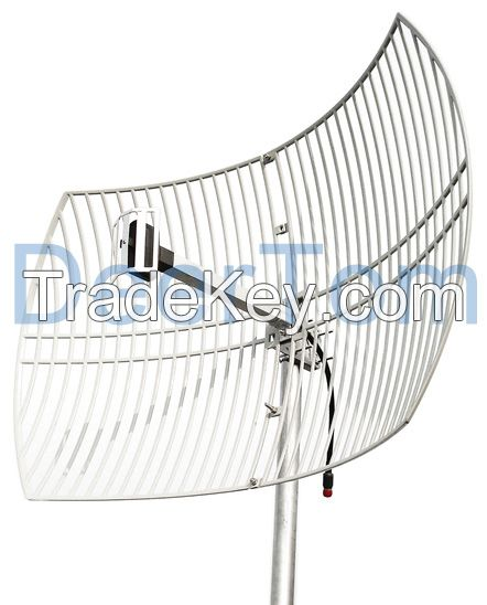 2400-2500MHz 2.4GHz WIFI Wlan Wireless Outdoor Directional 24dBi Grid Parabolic Antenna Base Station Antenna