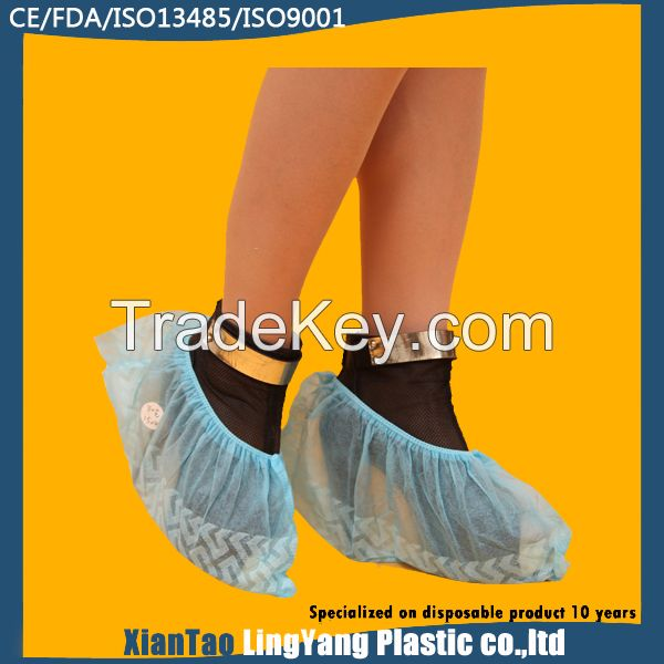 Non woven non skid shoe cover