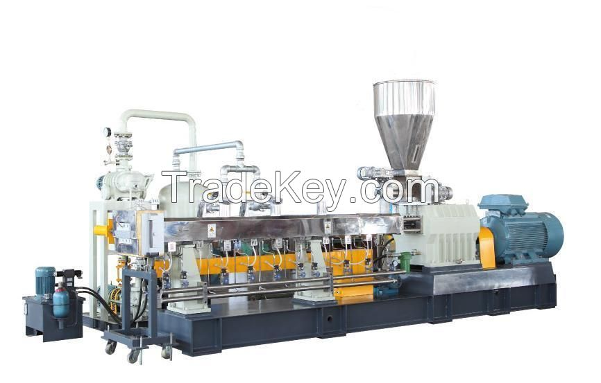 PET bottle twin screw extruder, stable IV with little addiction