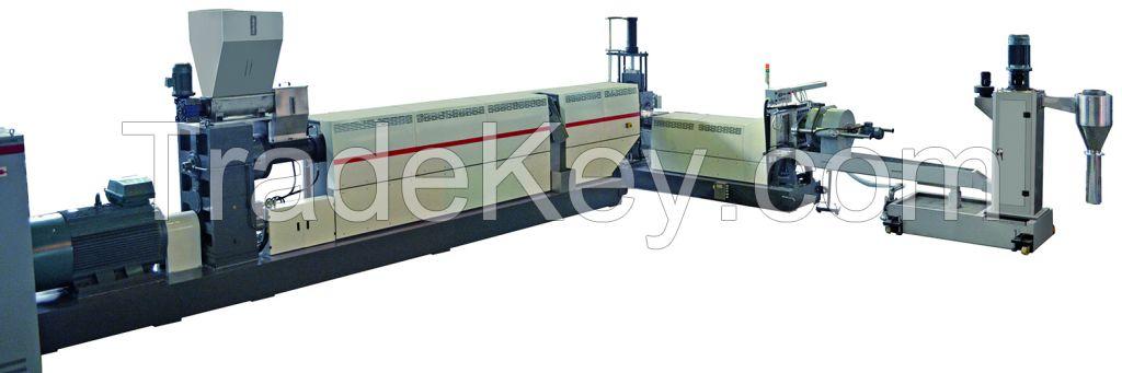 PP/PE/HDPE/LDPE plastic granulating extruder for plastic pelletizing
