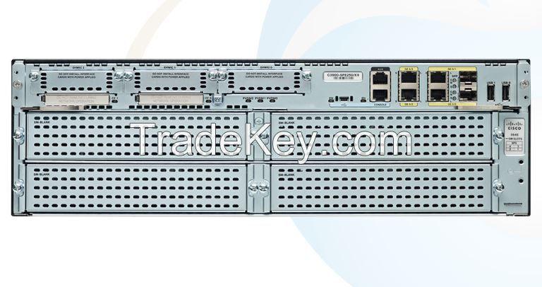 NEW SEALED C3945E-VSEC-SRE/K9 Router 3900 Series Integrated Services Routers 3945E, SRE 900, PVDM3-64, UC and SEC License PAK bundle