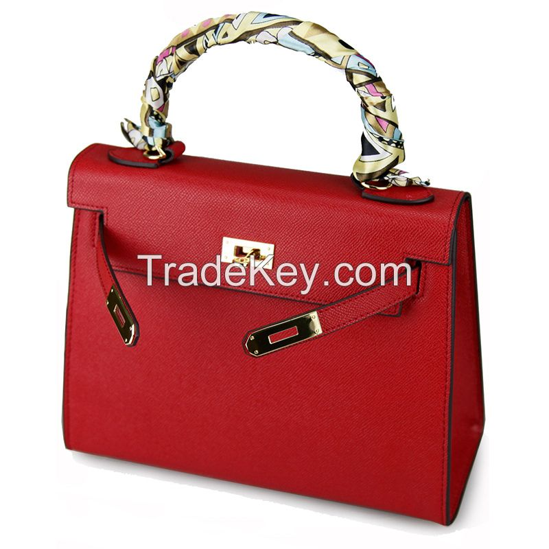 Genuine Leather Handbags H design with original leather lady Messenger bags