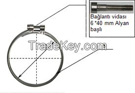 Connection equipment (Flow Pipe Clamp Duct Clamp)