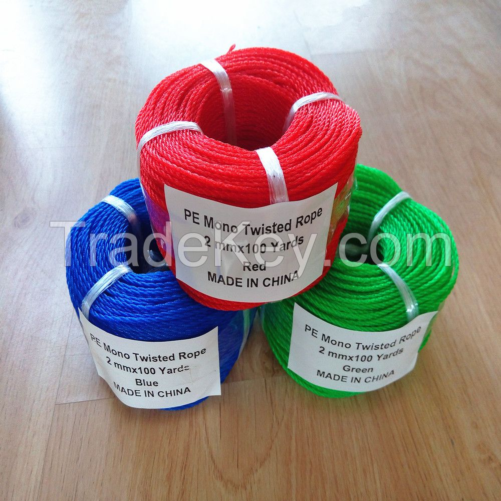fishing net rope,monofilament twisted rope and twine,taian factory