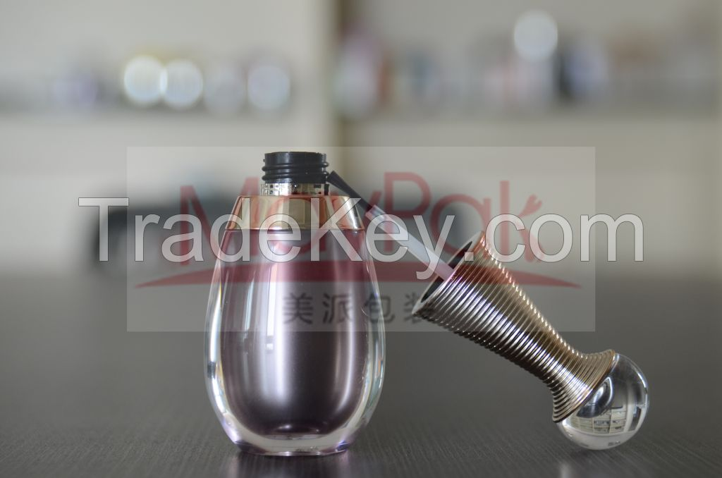 empty Acrylic nail polish bottle 10g custom made nail polish bottle