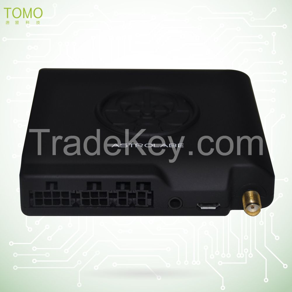 Portable fireproof GPS vehicle tracker with stable platform