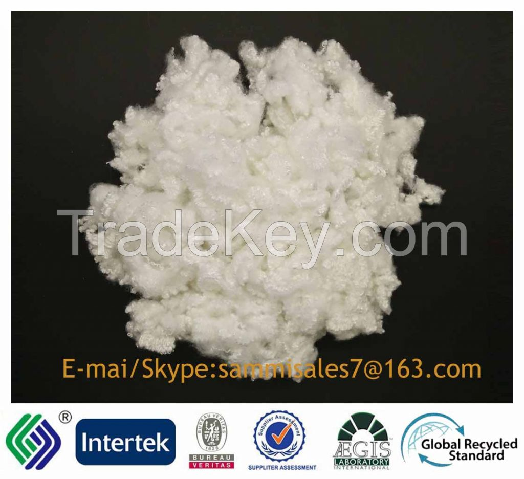 3DX64MM PSF siliconized raw white 100%polyester A Grade fiber