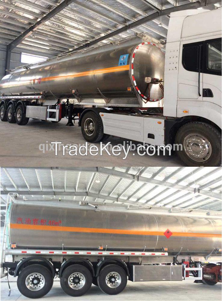 3axle46000liter Aluminum Alloy Fuel Tanker Semi