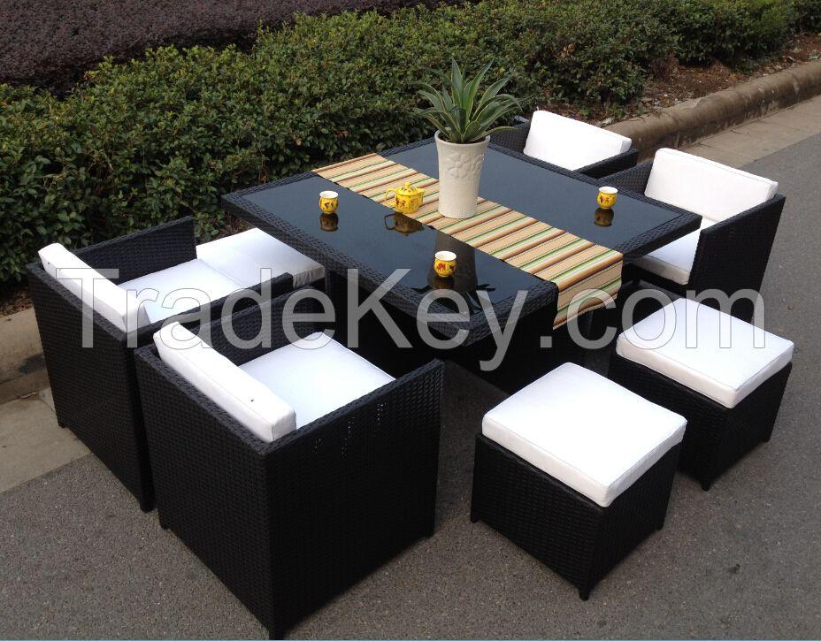 outdoor wicker patio dinning set furniture