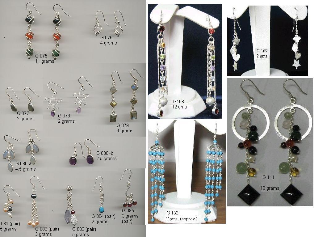 Silver dangle earring