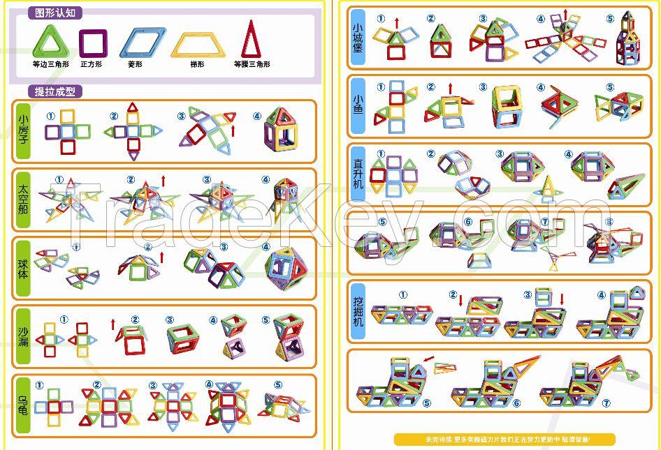 Intelligence variety magnetic building blocks