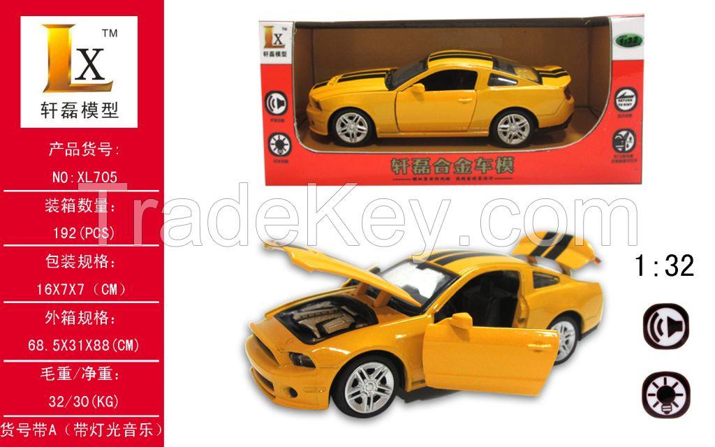 1:32 Bumblebee pull back alloy sport car