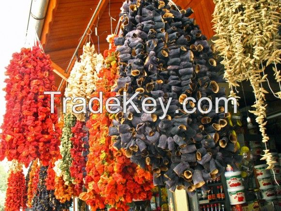 Dried eggplant / dried pepper / dried zuccgini