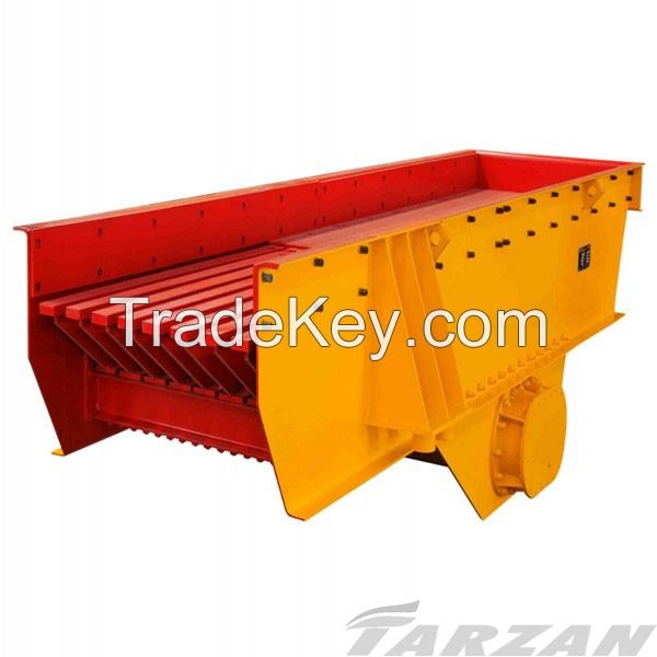 Vibrating feeder for stone crusher line, sand making line in industrial production