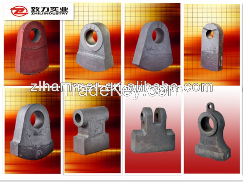 china supplier cement machinery part rock crusher hammerhead