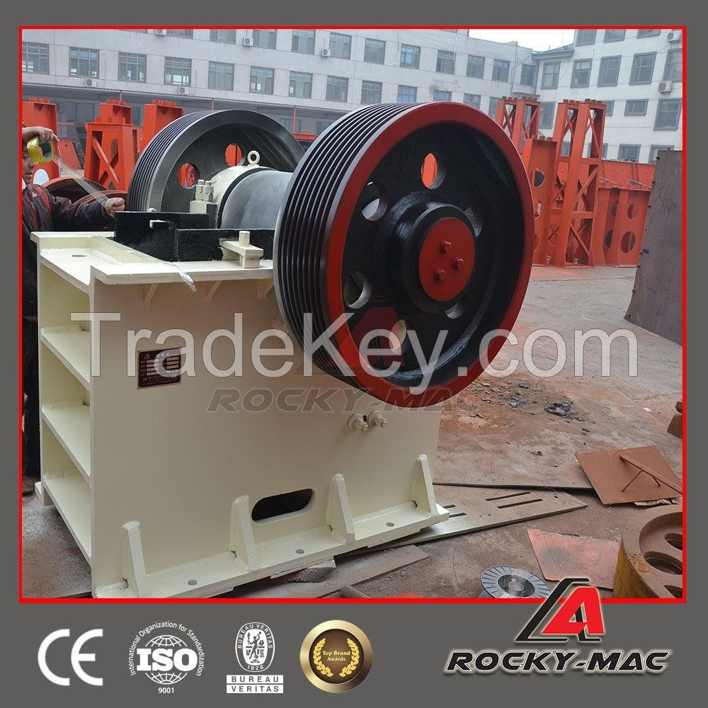 Top quality rock stone jaw crusher in China with best service and price