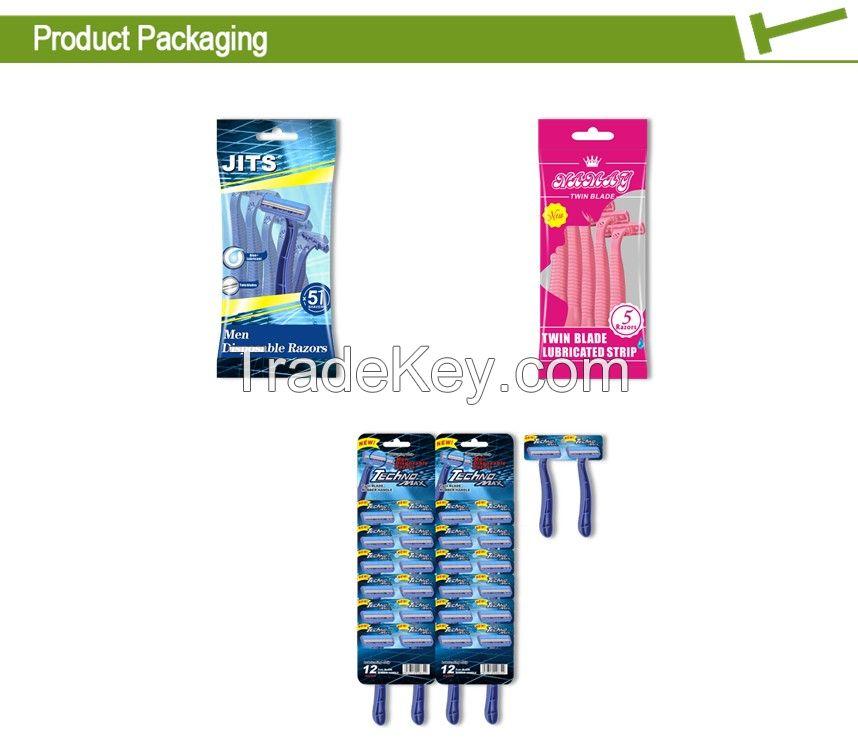 Popular male plastic disposable razor KL-S202
