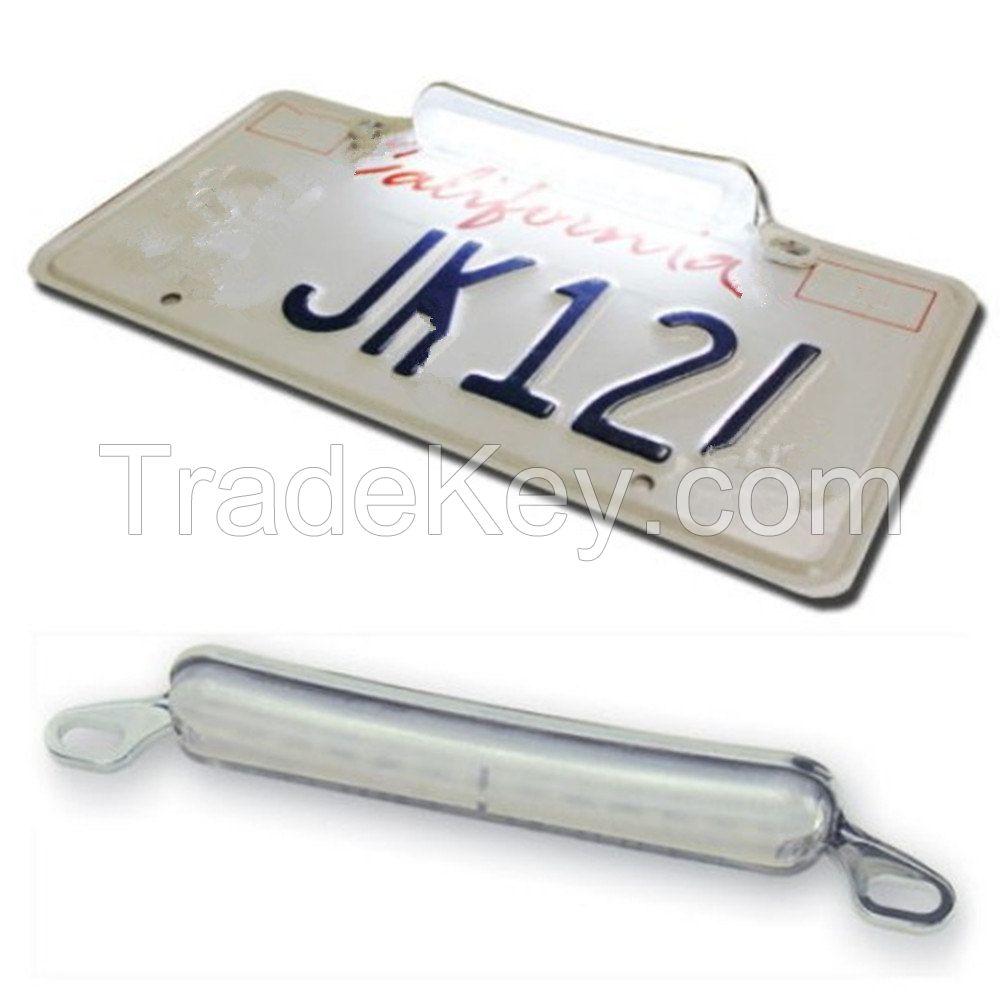 12-SMD LED Bolt-On 12V Car SUV RV Truck Trailer white License Plate Light DRL Chrome