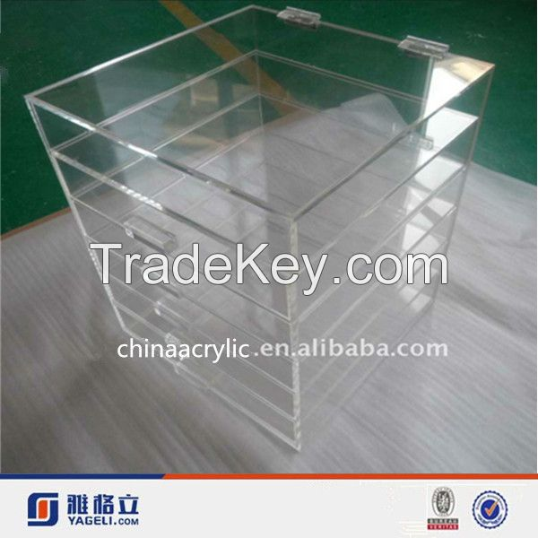 china manufacturers 5 drawers Acrylic makeup organizer for mac makeup, cosmetics, brush, eyeshadow