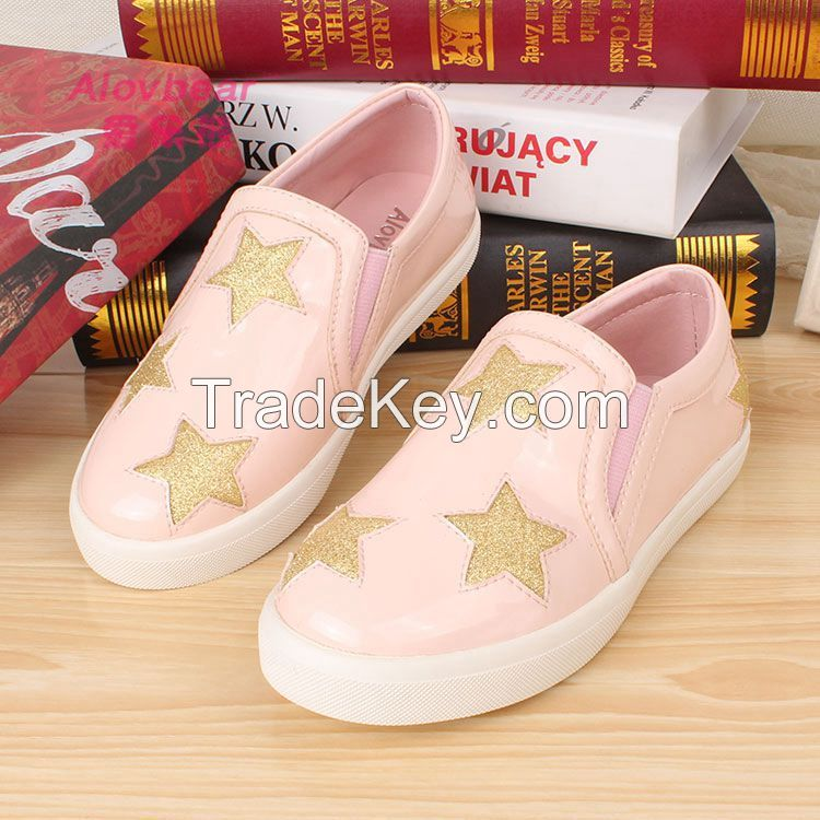 2015 new style fashion high quality casual flat children sports shoes