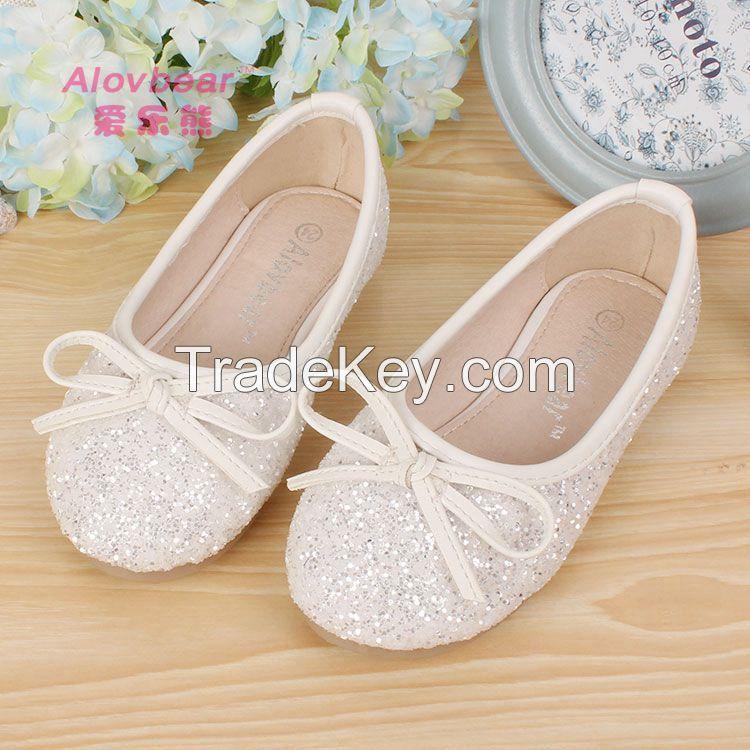Guangzhou china factory new style fashion cheap pretty children's shoes