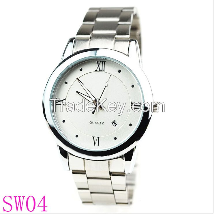 High quality Classic rolexable business man Japan movt quartz watch stainless steel back watch