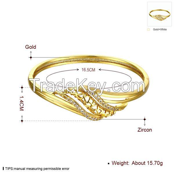 Designer Gold Ladies Bracelet Thin Chain Zircon Bracelet