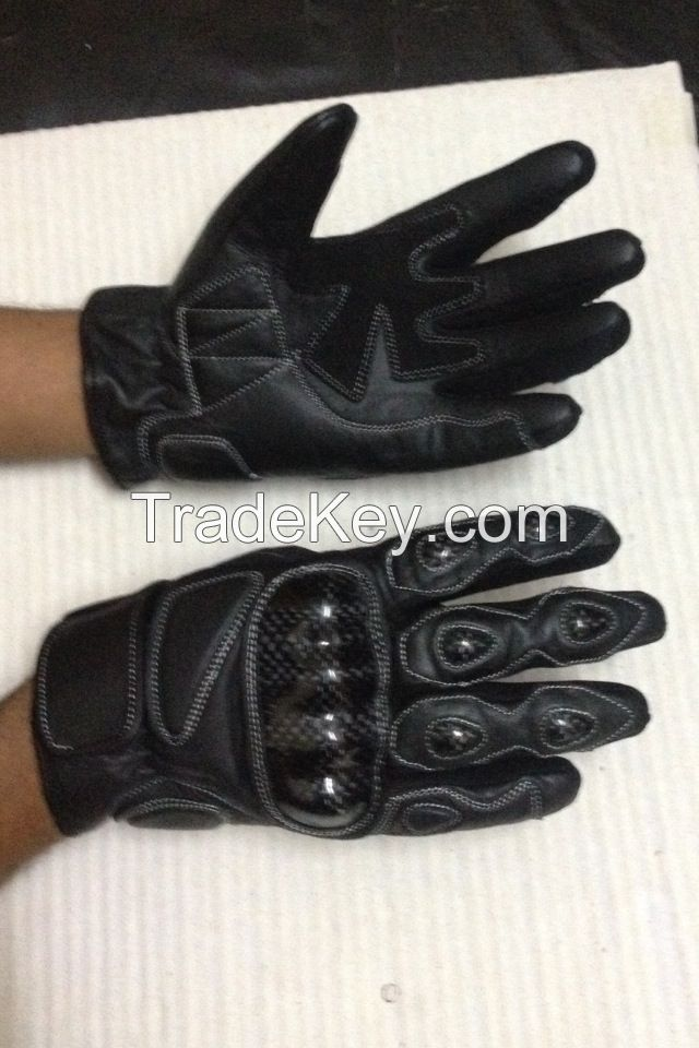 Motorbike Leather Gloves Racing Gloves Made of Cow Leather from Pasha Sports