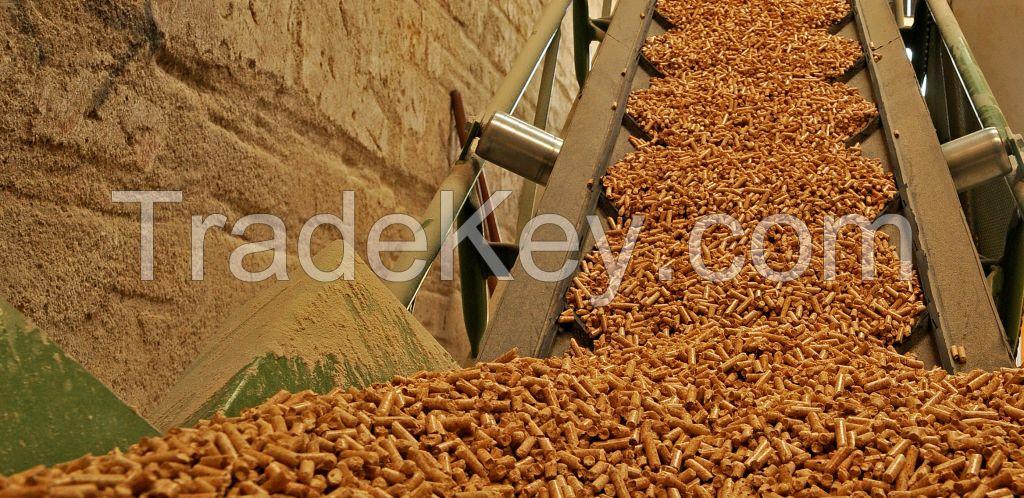 Premium quality Din Plus Beech, fir, pine, spruce wood pellets