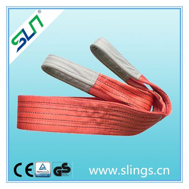 Polyester flat webbing sling eye type