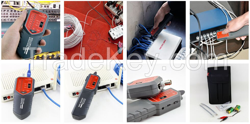 wire tracker and cable tester for RJ45 RJ11 BNC