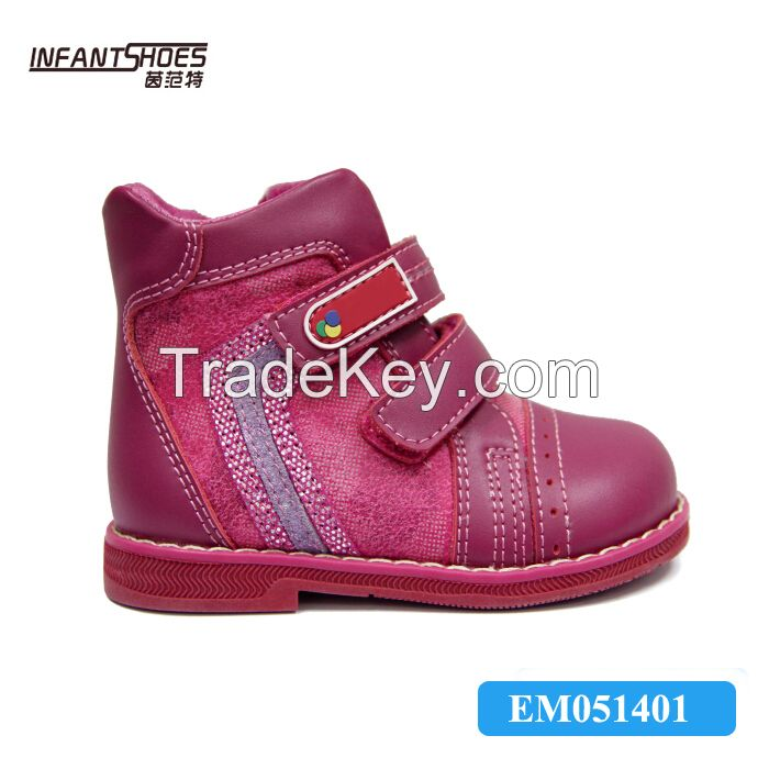 Leather baby girl shoes, orthopedic shoes for kids